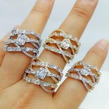 GODKI роскошный Багет CZ крест цветок смелые кольца с цирконием камни 2020 женские вечерние ювелирные изделия высокого качества