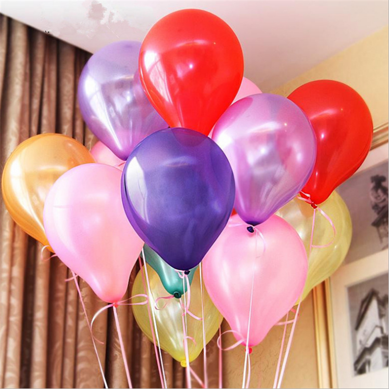10 pcs / lot 10 inch pearl latex balloons 1.5g inflatable wedding party decoration air balls Happy birthday Baby Shower balloons