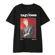 Kpop superM member name/photo printing o neck short sleeve t shirt