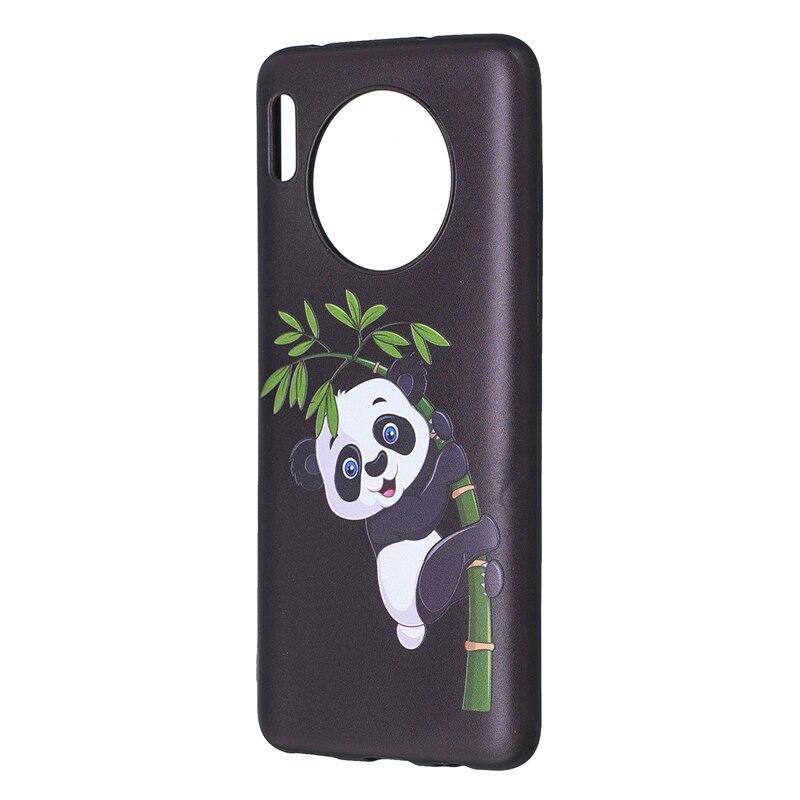 Mate 30 Cases Panda Bamboo TPU Soft Covers For Huawei Mate30 Cellphone Skin Para Funda Bumpers Etui Coque