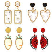 Fashion Crystal Drop Earrings Jewelry Vintage Classic Bohemian Korean For Woman Accessories Wholesale