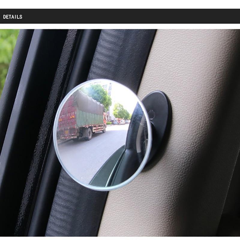 Auto 360 Weitwinkel Runden Konvexen Spiegel Auto Auto Seite Blind Spot Spiegel Rückspiegel