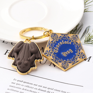 Image 5 - Wholesale 10 pcs/lot Movie Potter Frogs Chocolate Keychain Platform Pendant Key Chains for Women Men Cosplay Jeweley Gift