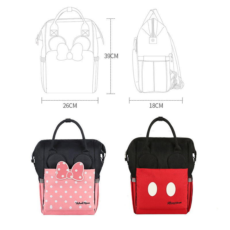 Disney USB Diaper Bag Backpack Mummy Maternity/Nappy Bag For Travel Backpack Baby Care Bag USB Heating Large Capacity Boutique