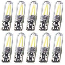 Luces de filamento LED COB para coche, bombillas de estacionamiento de coche, CANBUS, sin ERROR, cúpula de lectura, T10, 194, 2825, WY5W, W5W, 10 Uds.