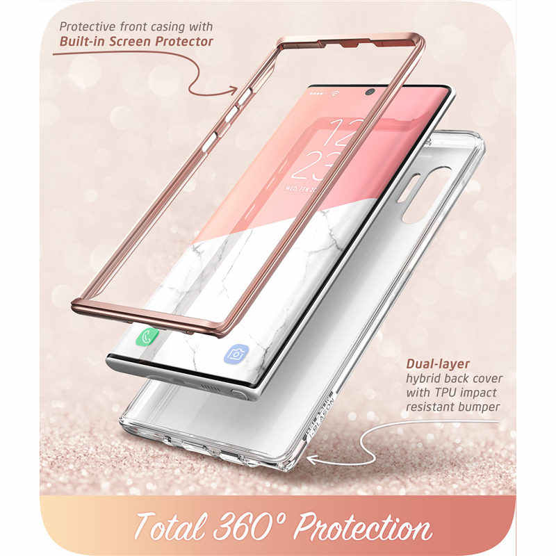 For Samsung Galaxy Note 10Plus Case (2019) i-Blason Cosmo Full-Body Glitter Marble Cover Case WITHOUT Built-in Screen Protector