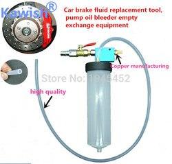 Grande venda!! kawish carro auto mudança de óleo fluido de freio substituição ferramenta bomba sangrador de óleo troca vazia drenado kit equipamento ferramenta