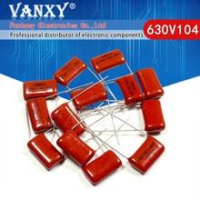 10 pces 630v104j passo 15mm 0.1uf 100nf 630v 104 capacitor de filme de polipropileno cbb