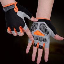 Gants de cyclisme vtt gants d'équitation sur route anti-dérapant Camping randonnée gants salle de sport Fitness sport vélo vélo gant demi doigt hommes