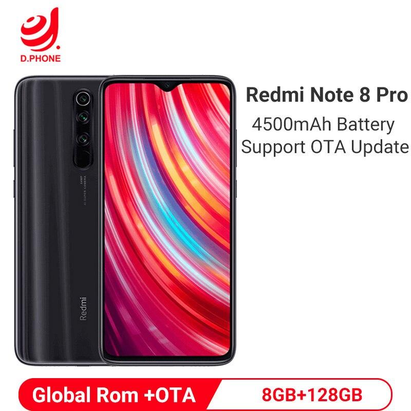 Фото. Оригинальный Смартфон Xiaomi Redmi Note 8 Pro смартфон телефон 8GB 128GB MTK Helio G90T 64MP Quad за