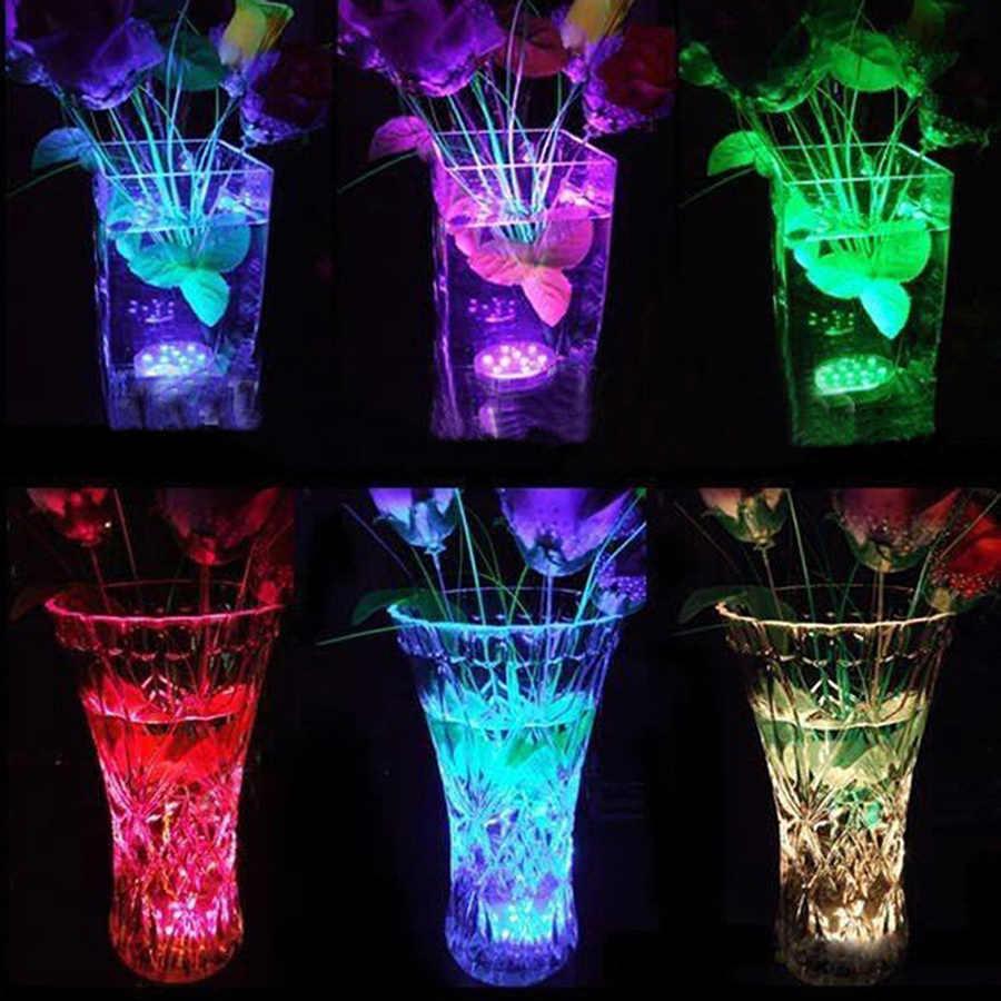 13 LED Tahan Air Multi-Warna Lampu Submersible LED Hot Tub Vas Bawah Air Teh Lampu untuk Kolam Renang Aquarium Fountain kolam