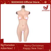 KOOMIHO crosscommode Silicone 5 points vagin body faux seins tasse G/D pour crosscommode Silicone poitrine formes glisser reine 4G