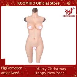 Koomiho Crossdresser Siliconen 5-Point Vagina Bodysuit Borstimplantaten Cup G/D Voor Crossdresser Siliconen Borstprothesen Slepen queen 4G