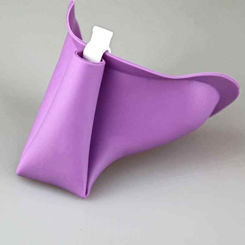 Rosa para mujer niñas urinario de silicona suave Dispositivo de micción de viaje al aire libre Camping de pie para urinarios de baño para niñas mujeres