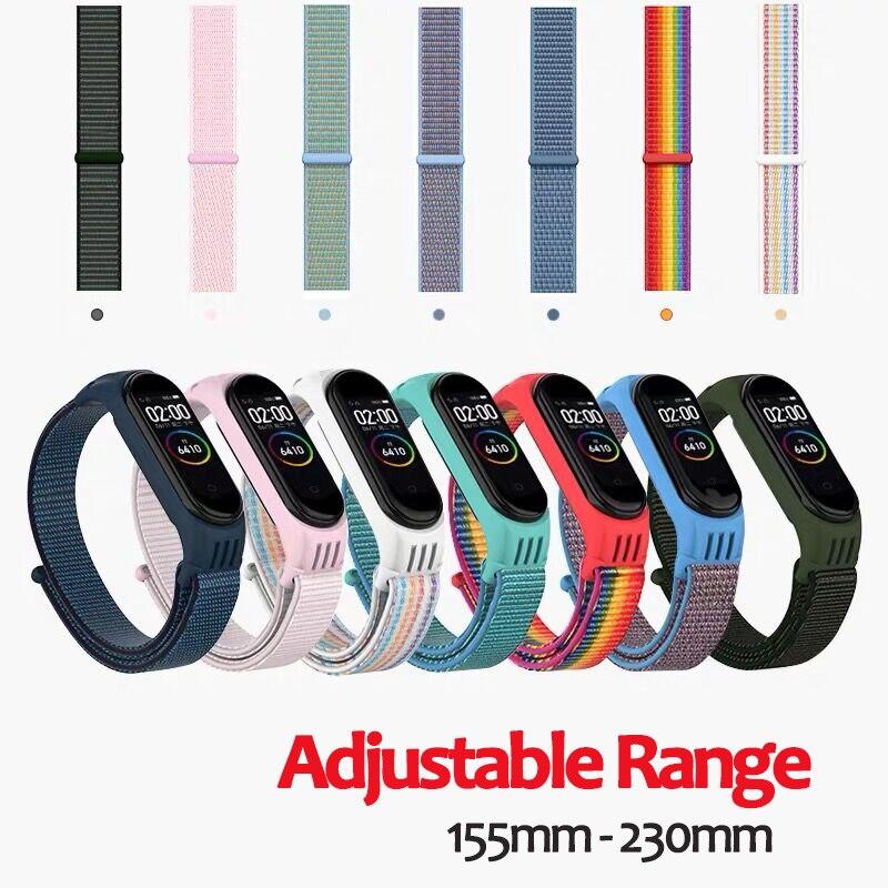 Xiaomi Mi Band 4 Strap Bracelet Nylon Strap Anti-lost Wristband NFC Smart Watch Replacement Xiaomi Mi Band 3 Colorful Strap