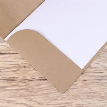 20pcs A4 Kraft Paper File Folder Document Paper Organizer Storage Holder School Office Stationery Supplies 4