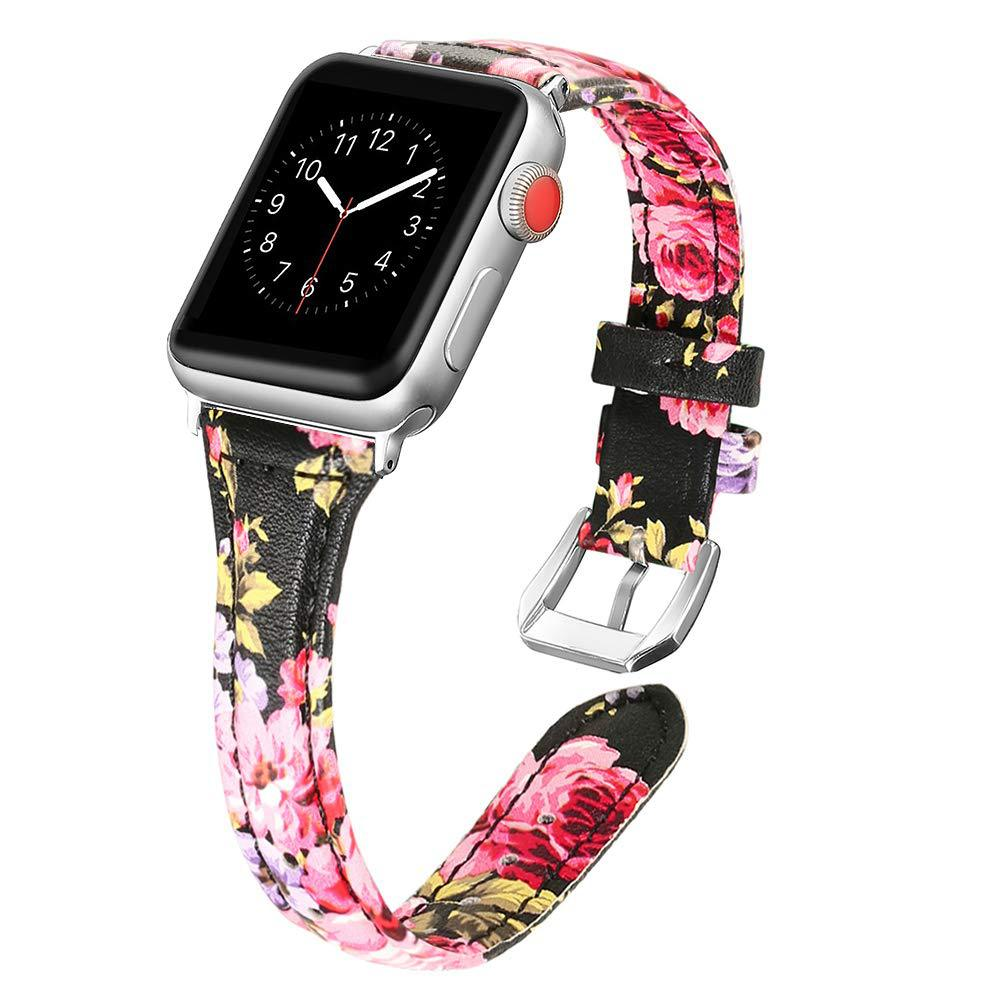 Suitable For Apple Watch Strap IWatch 4 Leather Watch Strap T-Shaped Printed Watch Strap Factory Direct Selling Wholesale