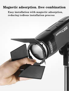 Image 5 - מגנטי עגול ראש פלאש AK R1 אבזר סט ערכת Godox AK R1 ערכת מיני צילום החלפת חלקי Godox H200R v1
