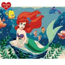 Diy живопись по номерам Мультфильм Русалка подводный морской