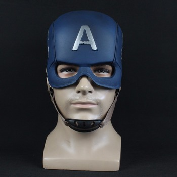 Captain America Mask Avengers Infinity War Cosplay Superhero PU Masks Helmet Halloween Party Props