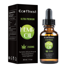 Pain Relief Reduce Anxiety Better Sleep Essence 30ml 100% Organic Hemp CBD Oil 2000mg Bio-active Hemp Seeds Oil Extract Drop