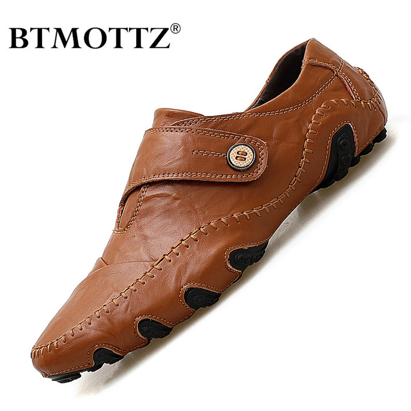 Men Casual Shoes Fashion Brand Men Shoes Genuine Leather Men Loafers Moccasins Slip On Men's Flats Male Driving Shoes Size 38-47