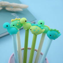 2 Pcs Kawaii Soft Silicone Dinosaur Gel Pen 0.5mm Black/ Blue Ink Marker School Office Writing Supply Stationery
