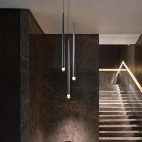 led longo downlight lustre individual criatividade moderna sala de jantar lustre luz da escada cozinha