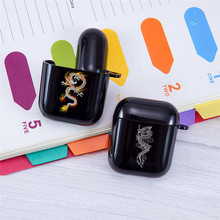 Earphone-Case Apple Airpods Charging-Box-Cover Dragon Bluetooth Fashion for Animal Soft