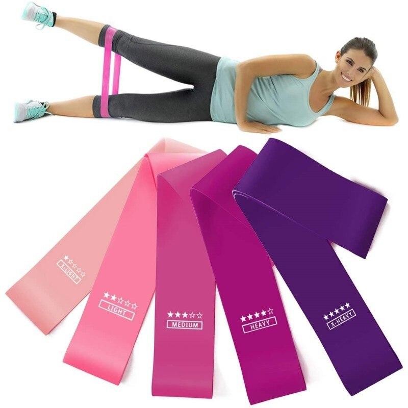 Elastik bantlar için spor direnç bantları egzersiz spor antreman spor sakız Pilates spor Crossfit egzersiz ekipmanları