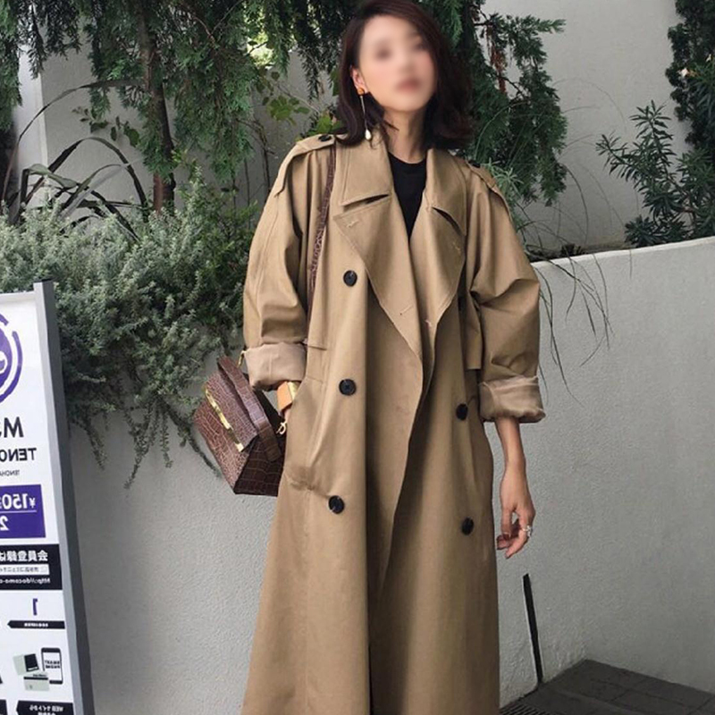 ZIAI 2020 Hotsale Women Jacket Spring Long Light Trench Coat Warm Lapel Female Windbreaker Long Sleeve Lady Casual StockZW-FY002