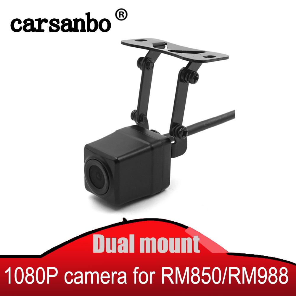 In-car and Outside Car Dual Mounting Streaming video mirror Back up Rear view Camera 1080P HD