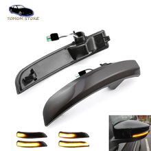For Ford Kuga Ecosport led repeator water flowing rearview mirror turn signal lights auto accessory parts car rearview mirror turn signal lights led lamp for toyota wish prius mark x crown auto exterior warning lights turning signal