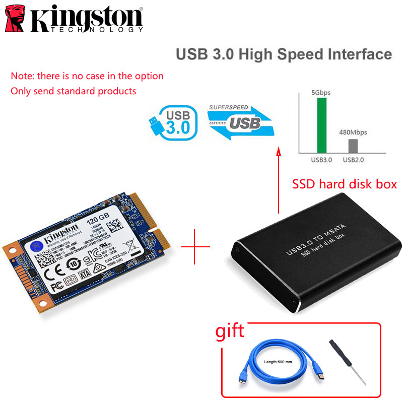 Kingston MSATA SSD 120GB 240GB 480GB MSATA SSD 1TB 2TB HDD 2.5