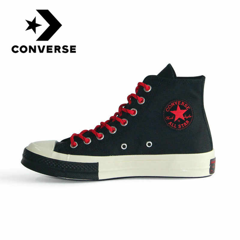 Original Converse All Star 1970S Neutral Skateboarding Shoes Men and Women Leisure Sneakers Retro High Flat Lightweight 161479C