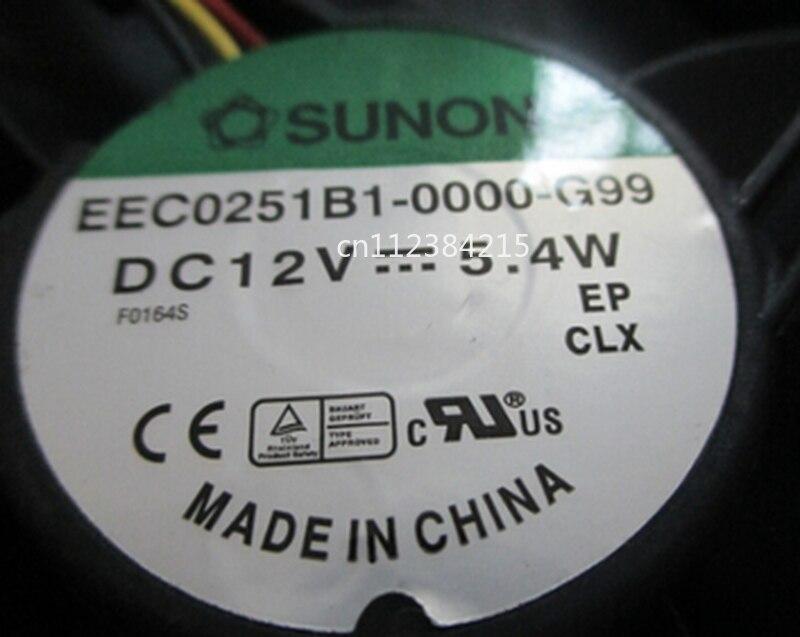 Free Shipping EEC0251B1-0000-G99 120*120*25 5.4W 12V 3 Wire Cabinet Fan Cooling Fan