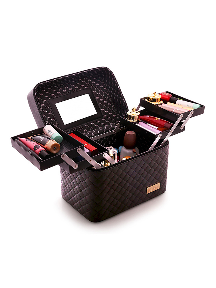 Storage-Box Cosmetic-Bag Makeup-Organizer Toiletry Pretty-Suitcase Professional Large-Capacity