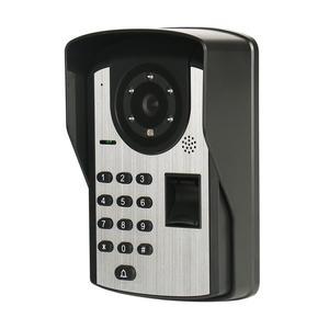Image 5 - Visiophone filaire avec 7 pouces, empreinte digitale et mot de passe, interphone vidéo, système de sécurité