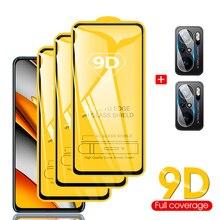 Poco F3, camera protector + tempered glass for Xiaomi Poco F3 5G screen protector Pocophone F3/M3/X3 Pro screen anti scratch glasses, Poco F3 Pro, 9D full edge coverage protective glass on Poco F3 Global Version