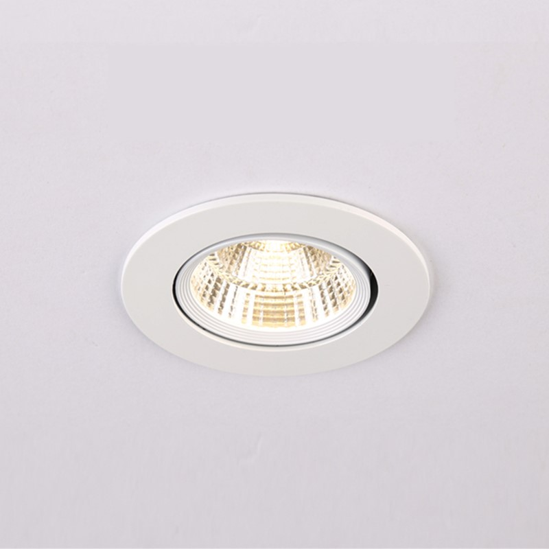 Dimmable LED COB Spotlight Ceiling Lamp AC85-265V 3W 5W 7W  12W 15W Aluminum Recessed Downlights Round Led Panel Light