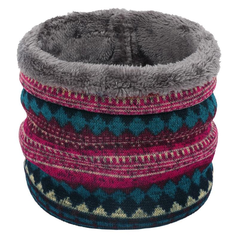 New Winter Warm Knitted Neck Warmer Thick Women Men Scarf Collar Outdoor Ski Climbing Scarf For Men Women Children Plush Scarves