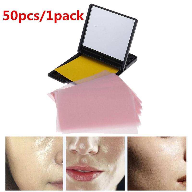 50pcs/1pack Facial Absorbent Paper Oil Control Wipes Protable Green Tea Absorbing Sheet Matcha Oily Face Blotting Matting Tissue