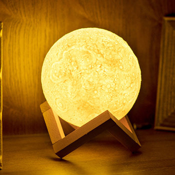 rechargeable 3d print moon light touch switch moon lamp 18cm 20cm led bedside bookcase night light home decororation luminaria 3D Print Rechargeable Moon Lamp LED Night Light Creative Touch Switch Moon Light For Bedroom Decoration Birthday Christmas Gift