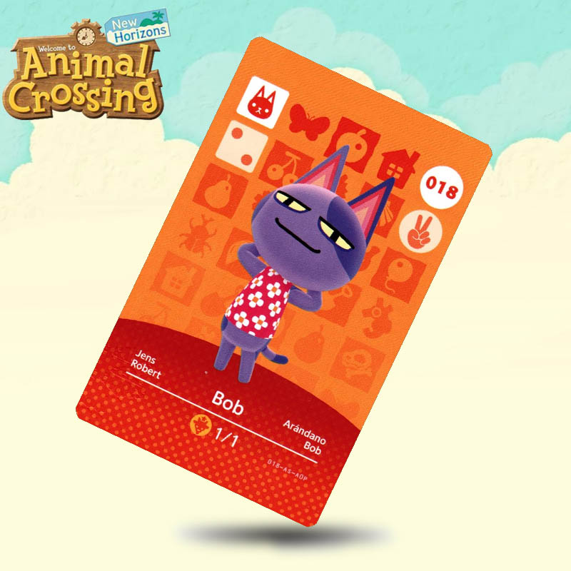 018 Bob  Animal Crossing Card Amiibo Cards Work For Switch NS 3DS Games
