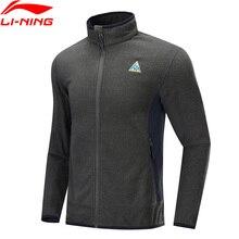 Li-Ning, Мужская Флисовая Куртка для улицы, Осень-зима, теплая, Стандартная посадка, полиэстер, нейлоновая подкладка, спортивная куртка, AENP001 MWJ2627