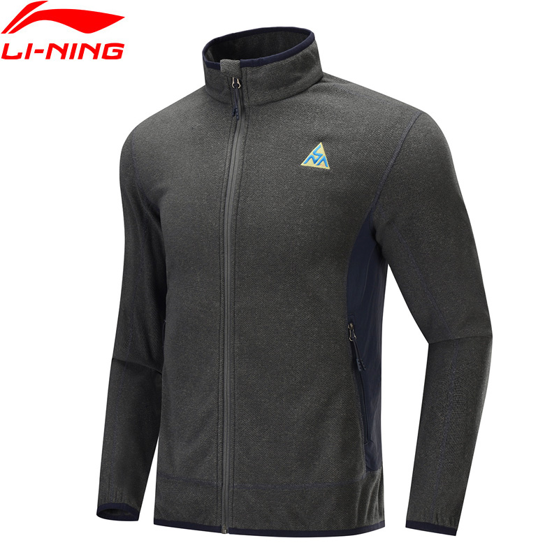 Li-Ning Men Outdoor Fleece Coat Autumn Winter Warm Regular Fit Polyester Nylon Li Ning LiNing Sports Jacket AENP001 MWJ2627