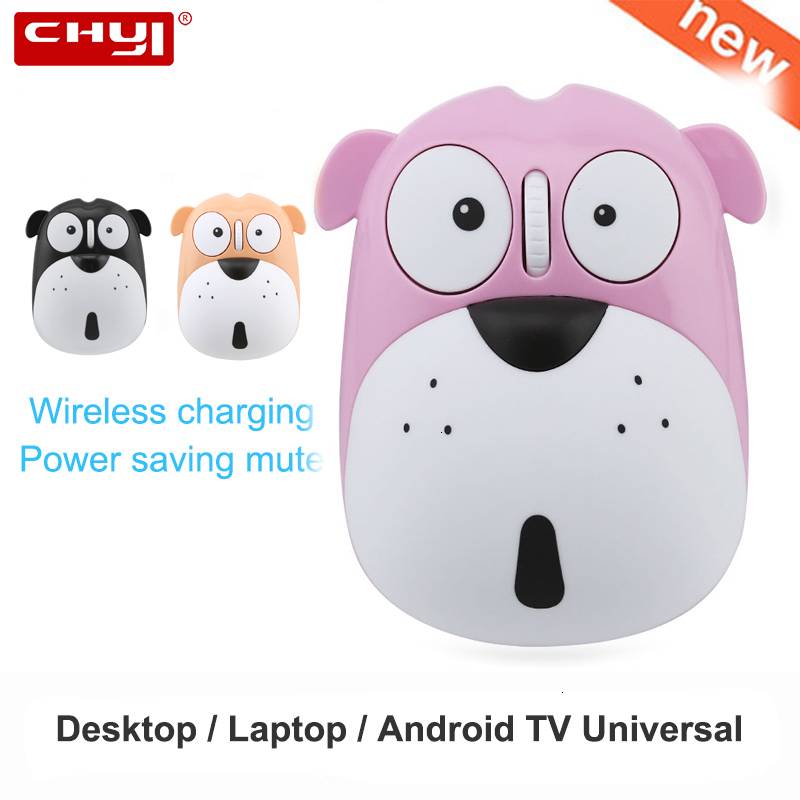 Wireless Silent Computer Mouse Rechargeable Ergonomic Pink Cute Optical Mause Usb Noiseless 3D PC Animal Mice For Kid Gift Girl