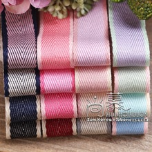 50yards 10 16 25 38mm double colors herringbone ribbon for kids diy craft supplies hair bow fashion accessories bouquet