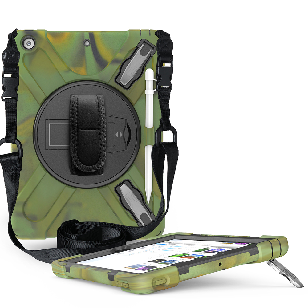 camouflage Yellow Case for iPad 10 2 Heavy Armor Kids Shokproof Cover A2197 A2198 A2200 A2270 A2428 A2429