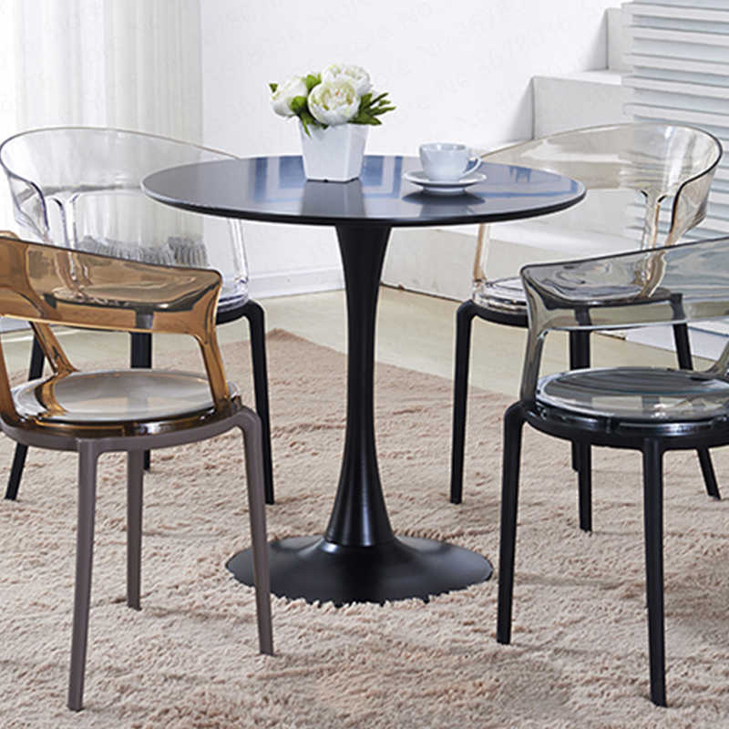 Nueva mesa de comedor minimalista moderna pequeña mesa redonda oficina de  ventas para negociar recepción escritorio Mesa Redonda de café